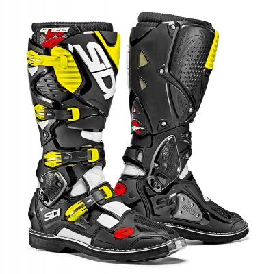 Sidi Crossfire 3 White/Black/Yellow Fluo